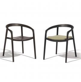 MANUTTI Solid chair teak nero