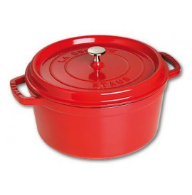 STAUB Cocotte rond 24cm rood