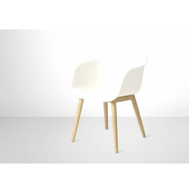 Muuto Fiber Armstoel oak/white
