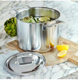 Demeyere Silver edition soeppop met deksel diam 24 cm +GRATIS Pasta-inzet