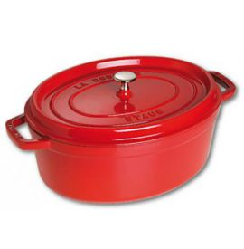 Cocotte ovaal 31cm rood