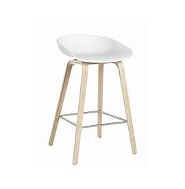 HAY AAS32 BAR STOEL white/oak hoog