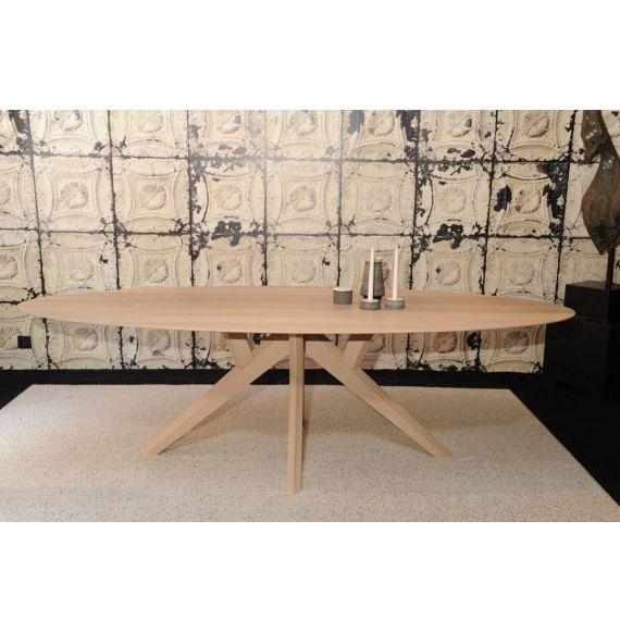 Salsa ovale tafel 260x120 cm white wash
