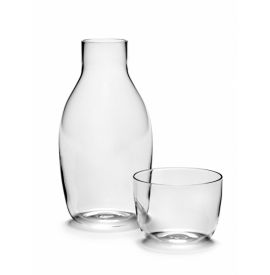 KARAF 75 CL + GLAS 20 CL VINCENT VAN DUYSEN H18,6CM D9,3CM SERAX