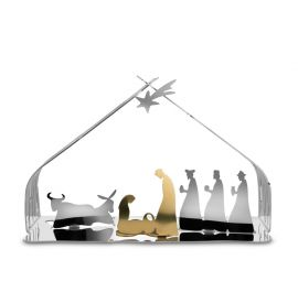 Bark Kerststal Zilver/Goud Alessi