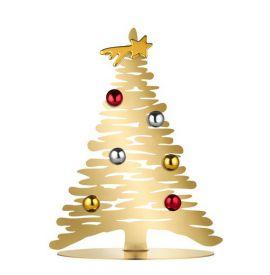 Bark magnetische kerstboom goudkleur 30cm Alessi