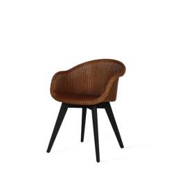 AVRIL black wood base stoel