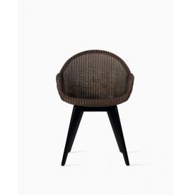 AVRIL HB black wood base stoel