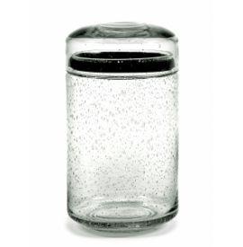 PURE STORAGE POT GLASS L D12 CM H22 CM