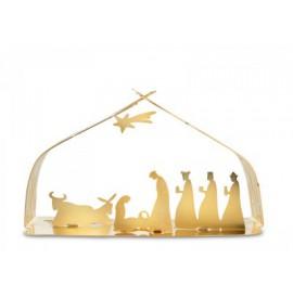 Bark Kerststal kleur Goud...